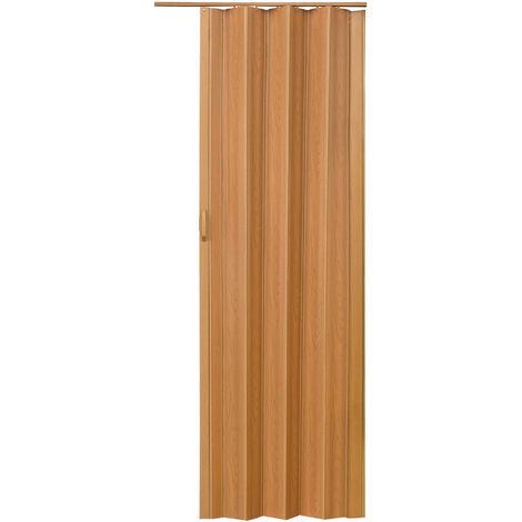 Puerta plegable corredera - puerta plegadiza para casa, puerta corrediza moderna ajustable, puerta de acordeón para cocina - nogal