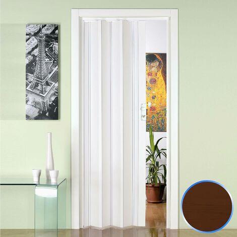 Puerta plegable de interior de PVC Nuez 88,5x214 cm mod.Luciana