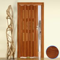 Puerta plegable de interior de PVC mod. Luciana con Vidrio