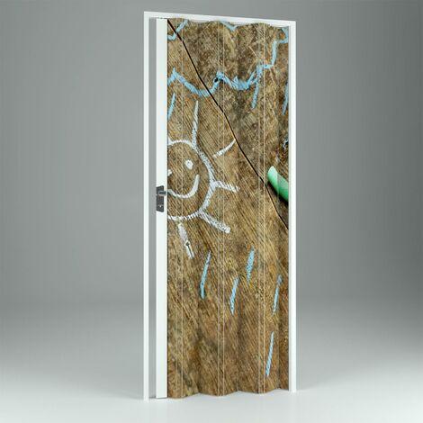 Puerta plegable de interior de PVC mod. Vera