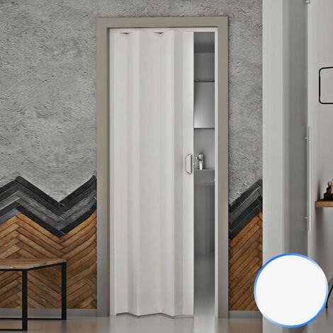 Puerta plegable de interior de PVC Blanco Pastel 83x214 cm mod.Monica