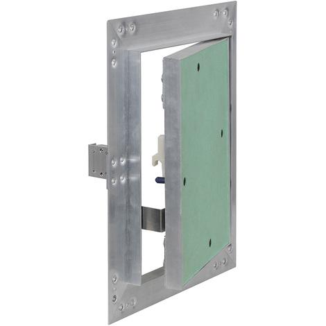 Puerta revisión Trampilla inspección marco aluminio 20x25cm Panel acceso Yeso 12,5 mm Techo Pared