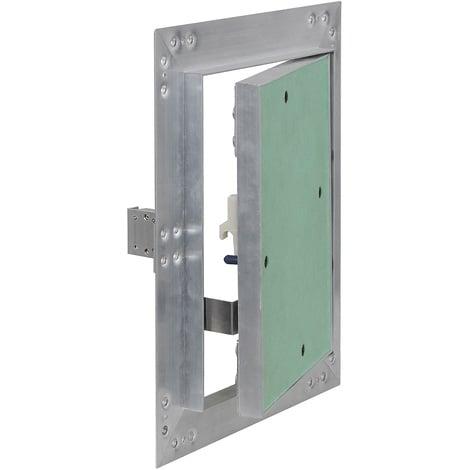 Puerta revisión Trampilla inspección marco aluminio 25x30cm Panel acceso Yeso 12,5 mm Techo Pared