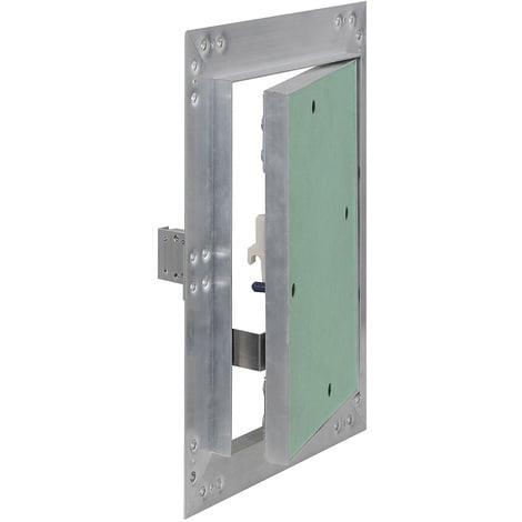 Puerta revisión Trampilla inspección marco aluminio 30x60cm Panel acceso Yeso 12,5 mm Techo Pared