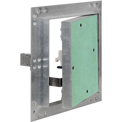 Puerta revisión Trampilla inspección marco aluminio 60x60cm Panel acceso Yeso 12,5 mm Techo Pared