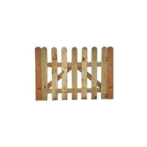 Puerta valla clasica 100x80cm. pino