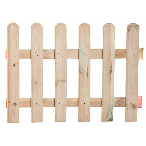Puerta valla clásica con herrajes 100x70cm