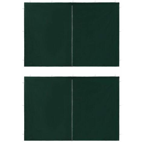 Puertas de carpa fiesta con cremallera 2 uds verde