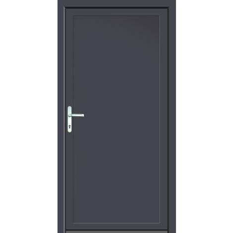 Puertas de casa aluminio modelo 401A dentro: blanco, fuera: titanio
