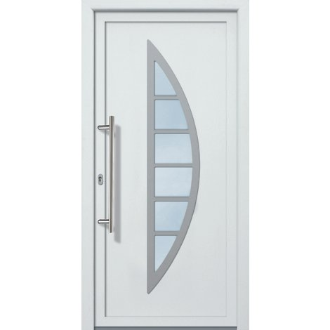 Puertas de casa aluminio modelo 428A dentro: blanco, fuera: blanco