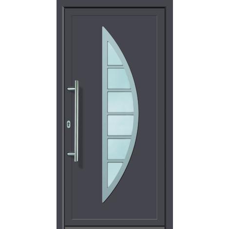 Puertas de casa aluminio modelo 428A dentro: blanco, fuera: titanio