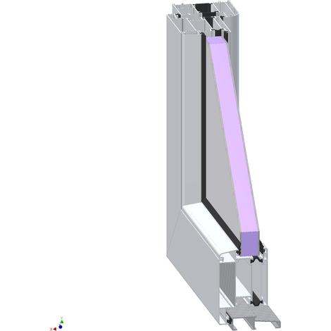 Puertas de casa aluminio modelo 492A dentro: blanco, fuera: titanio