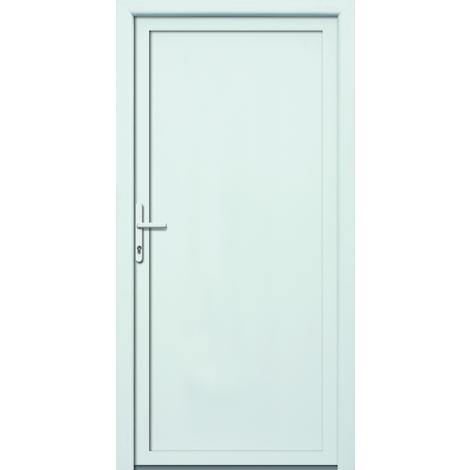 Puertas de casa aluminio/plástico modelo 401 dentro: blanco, fuera: titanio