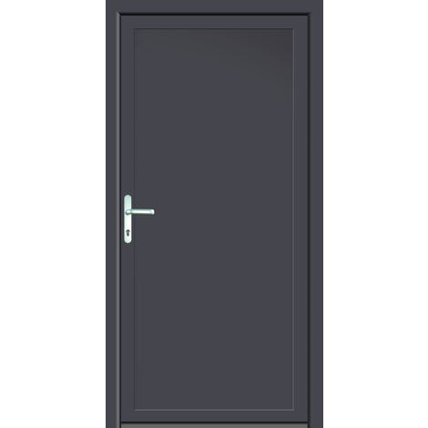 Puertas de casa aluminio/plástico modelo 401 dentro: titanio, fuera: titanio