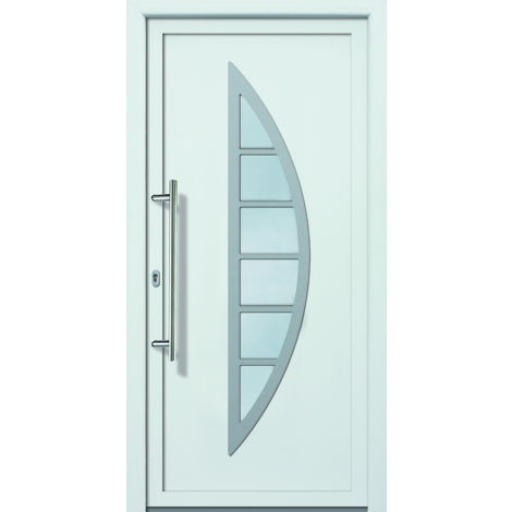 Puertas De Casa Aluminioplástico Modelo 428 Dentro Blanco