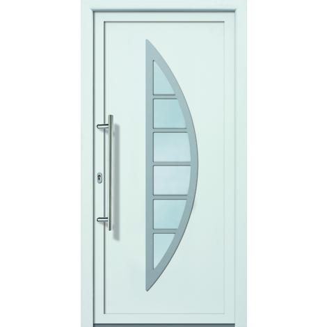 Puertas de casa aluminio/plástico modelo 428 dentro: blanco, fuera: titanio