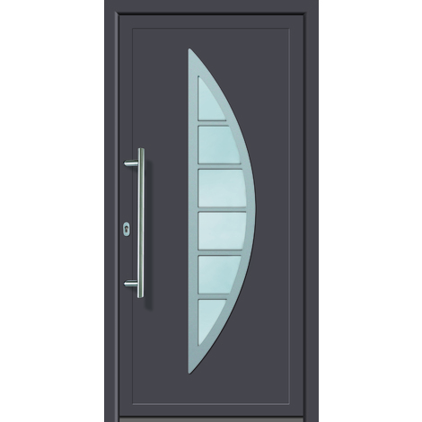 Puertas de casa aluminio/plástico modelo 428 dentro: titanio, fuera: titanio