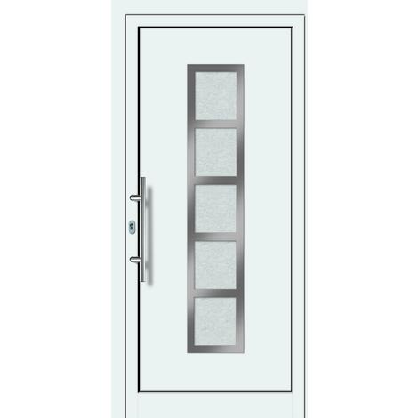 Puertas de casa aluminio/plástico modelo 451 dentro: blanco, fuera: blanco