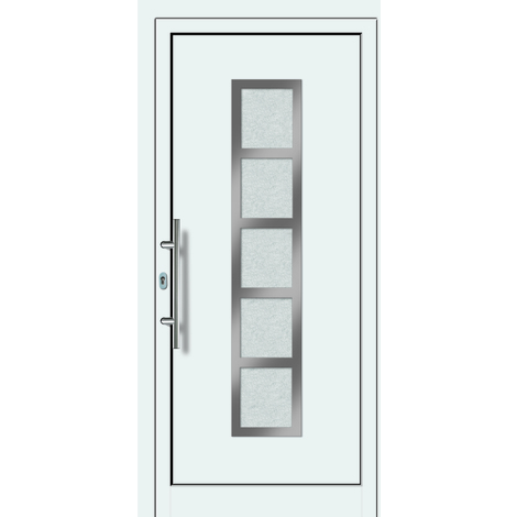 Puertas de casa aluminio/plástico modelo 451 dentro: blanco, fuera: titanio