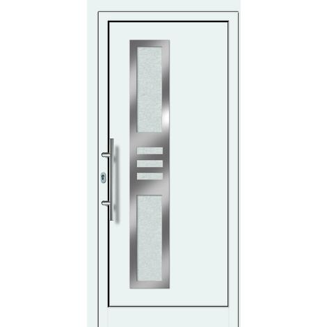 Puertas de casa aluminio/plástico modelo 453 dentro: blanco, fuera: titanio