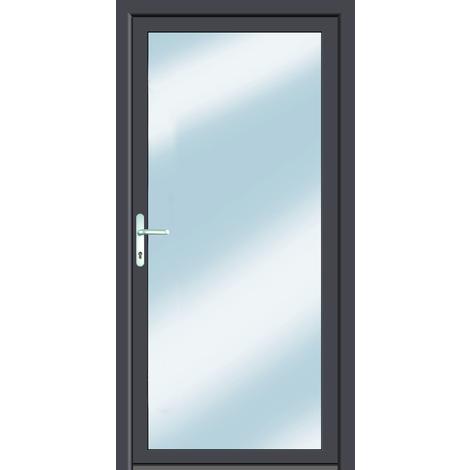 Puertas de casa clásico modelo E1 dentro: blanco, fuera: titanio