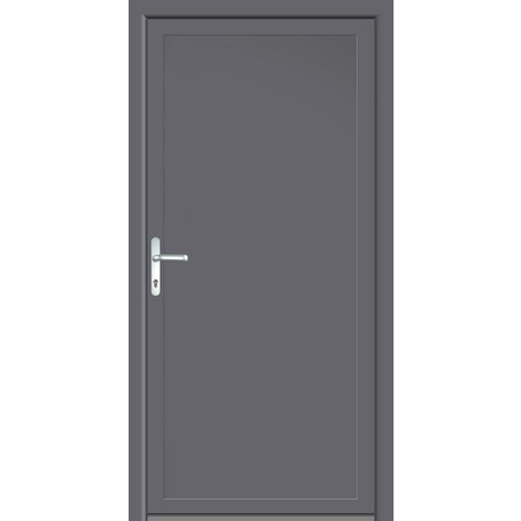 Puertas de casa exclusivo modelo 801 dentro: blanco, fuera: titanio