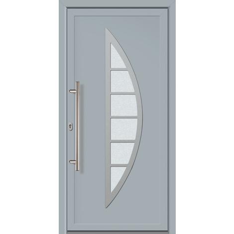 Puertas de casa exclusivo modelo 828 dentro: gris, fuera: gris