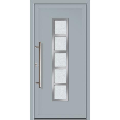 Puertas de casa exclusivo modelo 851 dentro: blanco, fuera: gris