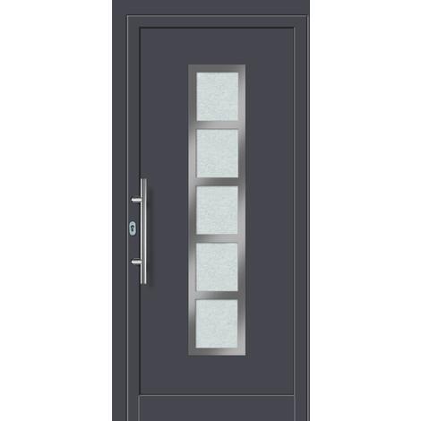 Puertas de casa exclusivo modelo 851 dentro: blanco, fuera: titanio