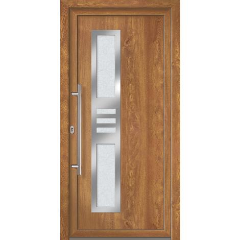 Puertas de casa exclusivo modelo 853 dentro: blanco, fuera: golden oak