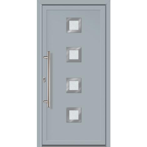 Puertas de casa exclusivo modelo 884 dentro: blanco, fuera: gris