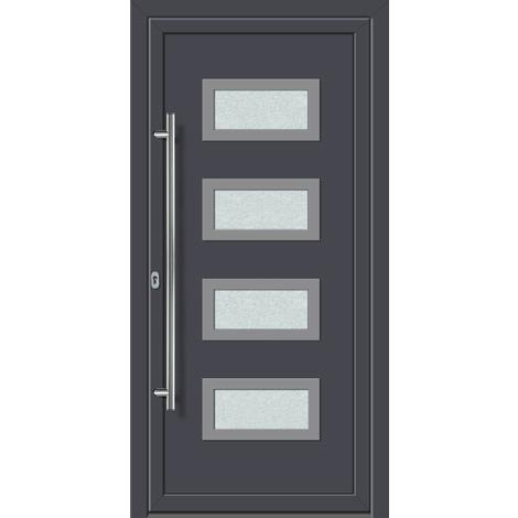 Puertas de casa exclusivo modelo 892 dentro: blanco, fuera: titanio ancho: 108cm, altura: 208cm DIN derecha