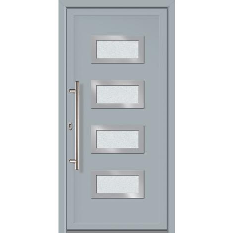 Puertas de casa exclusivo modelo 892 dentro: gris, fuera: gris