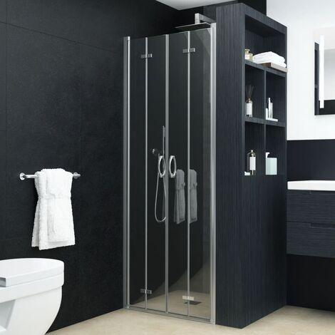 Puertas de ducha de plegado doble ESG transparente 85x185 cm
