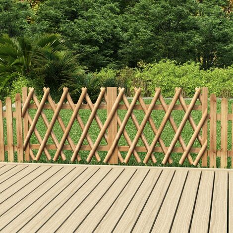 Puertas de valla 2 uds madera de pino impregnada 300x80 cm
