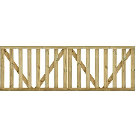 Puertas listones jardín 2 uds madera pino impregnada 150x100 cm