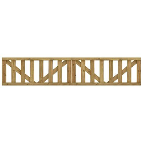 Puertas listones jardin 2 uds madera pino impregnada 150x60 cm