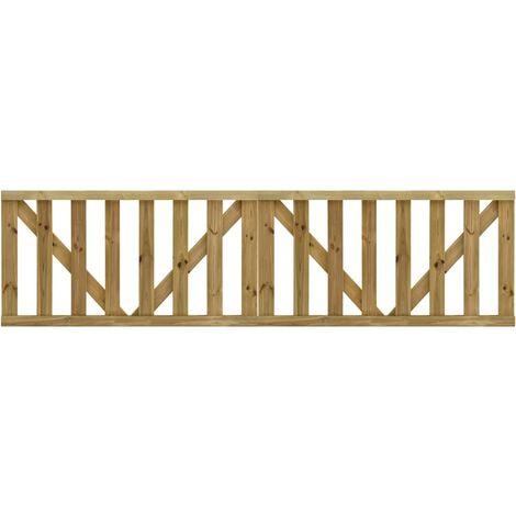 Puertas listones jardín 2 uds madera pino impregnada 150x80 cm