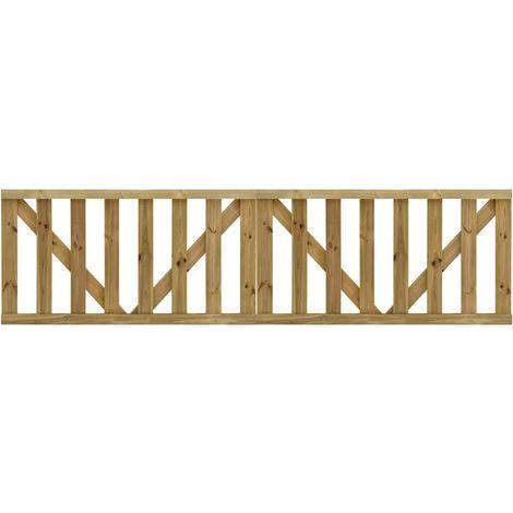 Puertas listones jardin 2 uds madera pino impregnada 150x80 cm