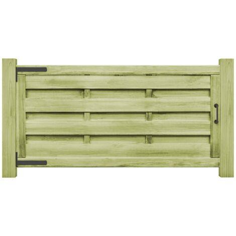 Puertas valla 2 uds madera pino impregnada 150x75 cm verde