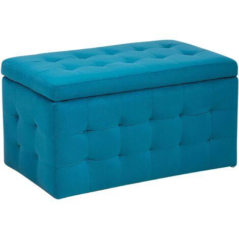 Puf con almacenaje azul marino MICHIGAN