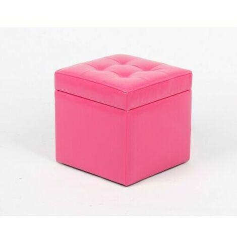 Puff abatible arcon rosa tapizado polipiel