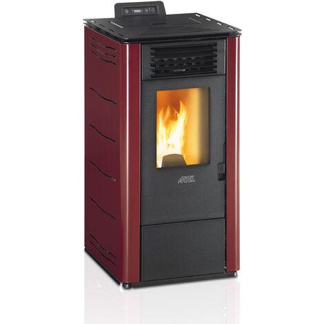 Puissant efficace chaudière écologique à granulés de chauffage couleur puissance 8,87kw bordeaux