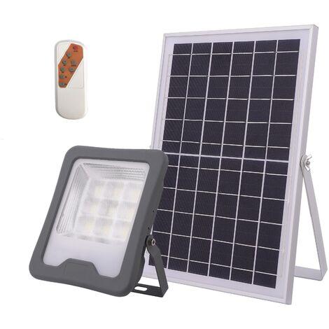 Puissant Projecteur Solaire multifonction en aluminium - 900lm pour 15-20m² - gris