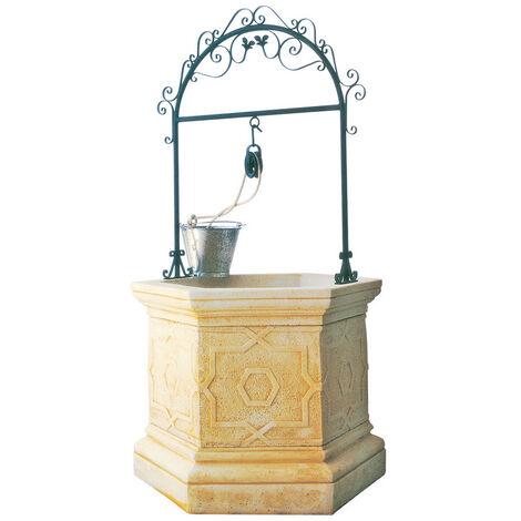"""main image of """"Puits d'eau Brocal de pierre reconstituée Modelo Sena 112x210cm. Ocre"""""""