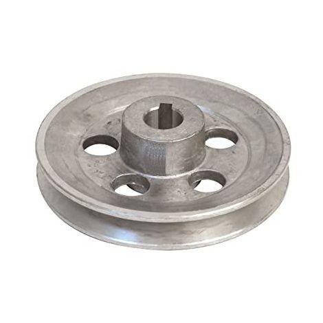 """main image of """"Puleggia in alluminio 1 Gola Foro 14 mm Diametro Esterno 58 mm Sezione A"""""""