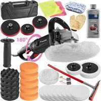 Pulidora con mango giratorio 1500W + muchos accesorios + pasta de pulir