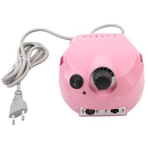 Pulidora eléctrica profesional para uñas, lima, taladro, manicura, pedicura, máquina, rosa