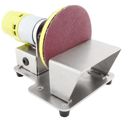 Pulidora rotativa electrica KKmoon, lijadora de disco de mesa