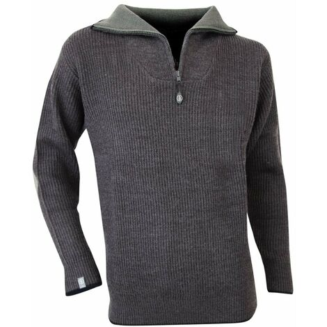 Pull camionneur côtes anglaises chevalées - CACAO - Anthracite